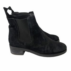 BARNEYS NEW YORK Black Suede Chelsea Boot Size 7